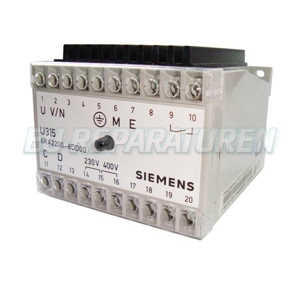 SERVICE SIEMENS 6RA2200-8DD00 DC DRIVE