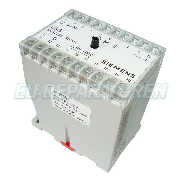 SERVICE SIEMENS 6RA2200-8DD00-1 DC DRIVE
