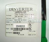 4 TYPENSCHILD CONTROL TECHNIQUES DIN3380150BM
