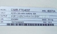 5 TYPENSCHILD CIMR-F7E4037
