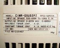4 TYPENSCHILD CIMR-G5U52P2