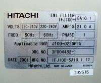 5 TYPENSCHILD IFJ100-SA10.1 EMI FILTER