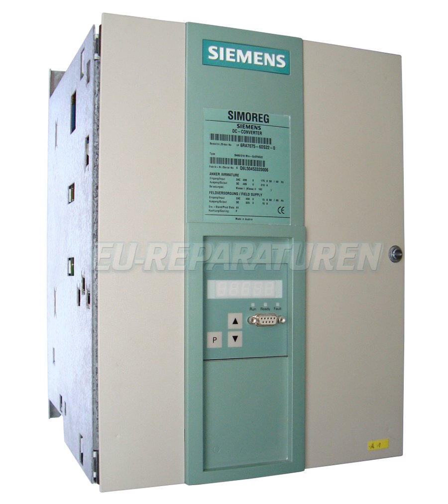SERVICE SIEMENS 6RA7075-6DS22-0 DC DRIVE