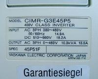 4 TYPENSCHILD CIMR-G3E45P5