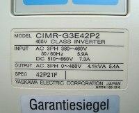 4 TYPENSCHILD CIMR-G3E42P2