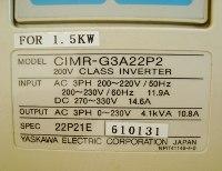 4 TYPENSCHILD CIMR-G3A22P2