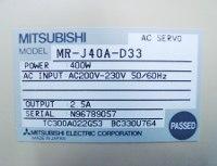 4 TYPENSCHILD MR-J40A-D33