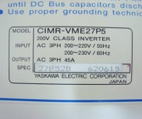 7 TYPENSCHILD CIMR-VME27P5 LABEL