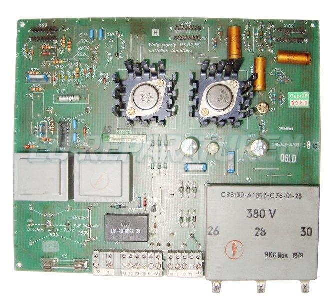 Weiter zum Artikel: SIEMENS C98043-A1001-L810 BOARD
