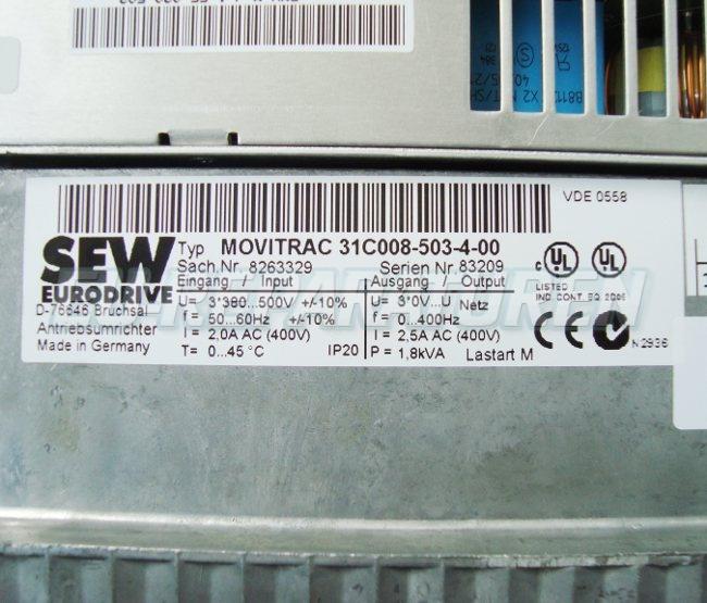 SHOP, Kaufen: SEW EURODRIVE 31C008-503-4-00 FREQUENZUMFORMER