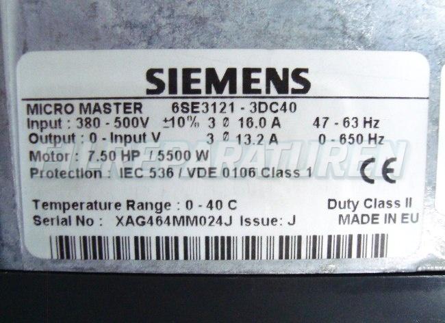 SHOP, Kaufen: SIEMENS 6SE3121-3DC40 FREQUENZUMFORMER