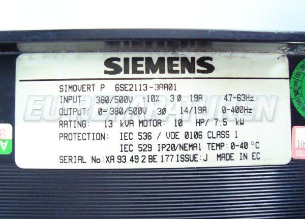 SHOP, Kaufen: SIEMENS 6SE2113-3AA01 FREQUENZUMFORMER