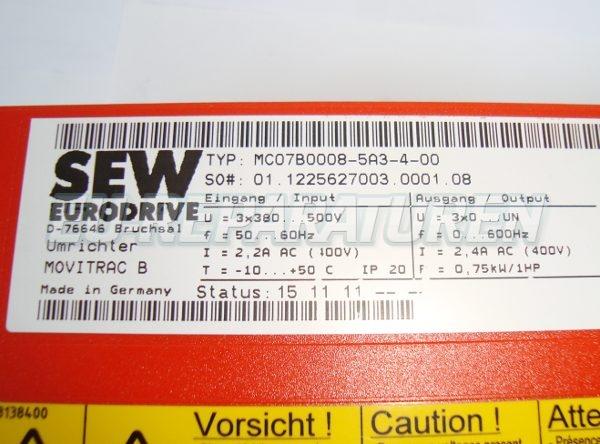 SHOP, Kaufen: SEW EURODRIVE MC07B0008-5A3-4-0 FREQUENZUMFORMER