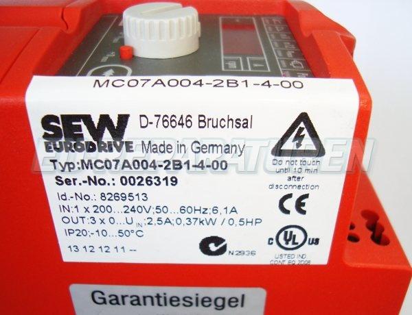 SHOP, Kaufen: SEW EURODRIVE MC07A004-2B1-4-00 FREQUENZUMFORMER