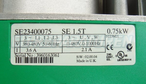SHOP, Kaufen: CONTROL TECHNIQUES SE23400075 FREQUENZUMFORMER