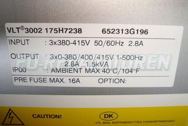 SHOP, Kaufen: DANFOSS VLT3002-175H7238 FREQUENZUMFORMER