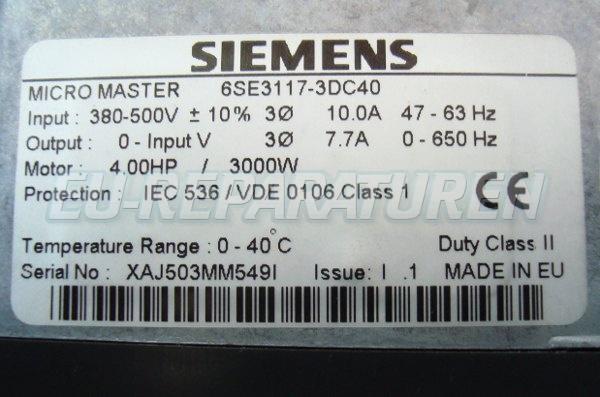 SHOP, Kaufen: SIEMENS 6SE3117-3DC40 FREQUENZUMFORMER