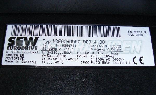 SHOP, Kaufen: SEW EURODRIVE MDF60A0550-503-4- FREQUENZUMFORMER