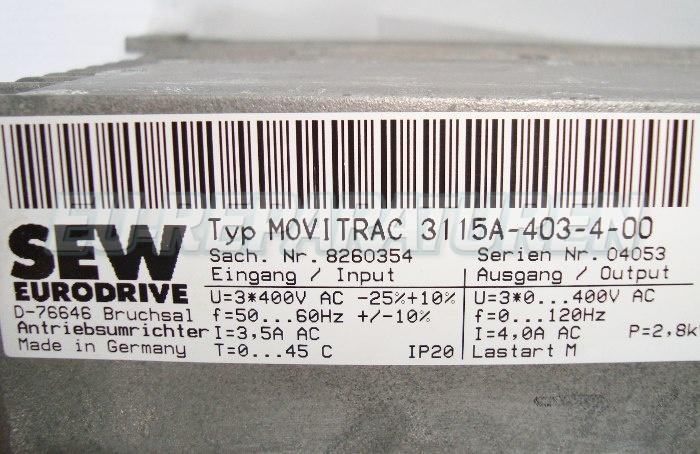 SHOP, Kaufen: SEW EURODRIVE 3115A-403-4-00 FREQUENZUMFORMER