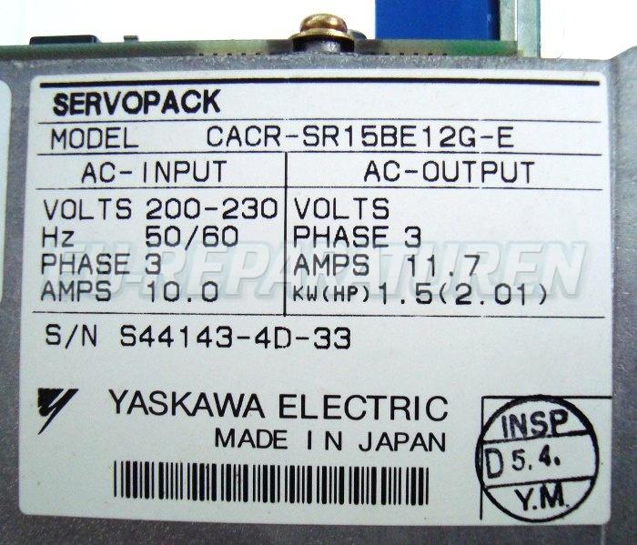 SHOP, Kaufen: YASKAWA CACR-SR15BE12G-E FREQUENZUMFORMER