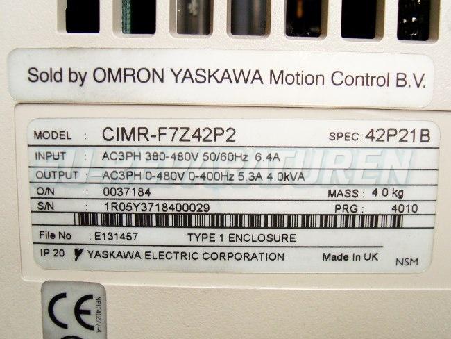 SHOP, Kaufen: YASKAWA CIMR-F7Z42P2 FREQUENZUMFORMER