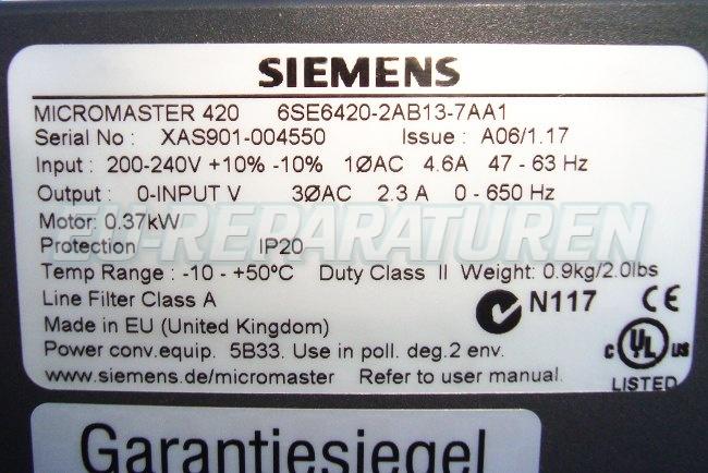 SHOP, Kaufen: SIEMENS 6SE6420-2AB13-7AA FREQUENZUMFORMER