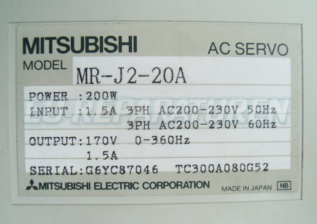SHOP, Kaufen: MITSUBISHI ELECTRIC MR-J2-20A FREQUENZUMFORMER