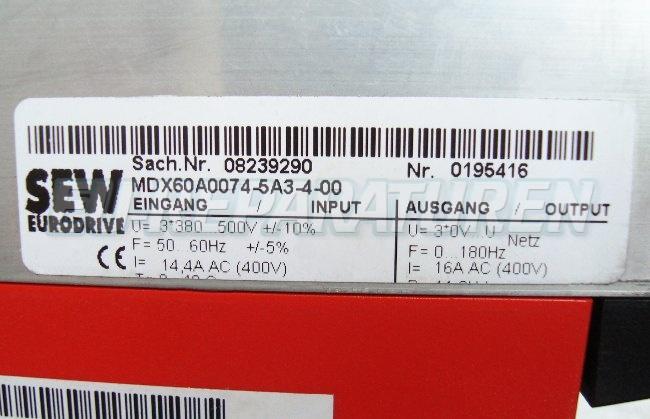 VORSCHAU: SEW EURODRIVE MC07A075-5A3-4-00 FREQUENZUMFORMER