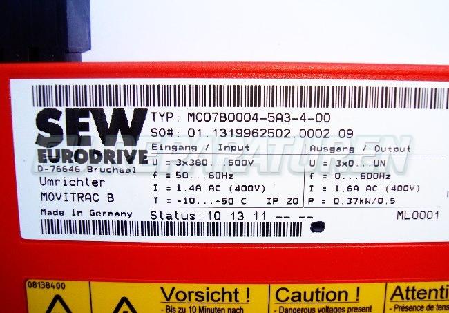 SHOP, Kaufen: SEW EURODRIVE MC07B0004-5A3-4-0 FREQUENZUMFORMER
