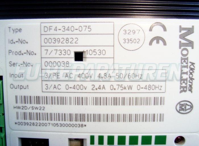 SHOP, Kaufen: MOELLER DF4-340-075 FREQUENZUMFORMER