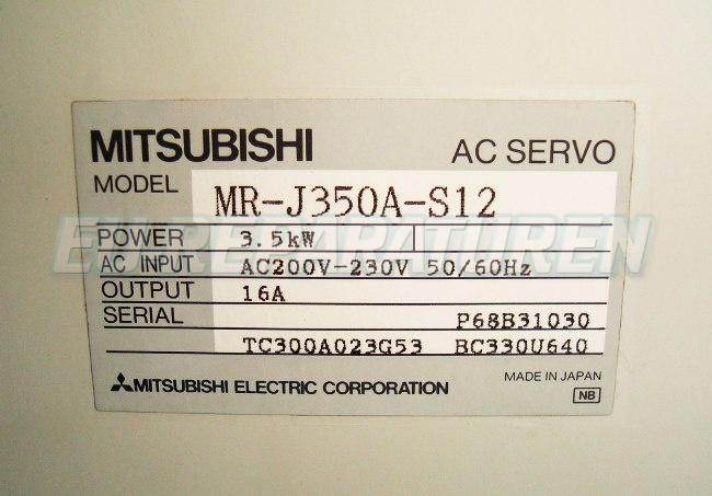 SHOP, Kaufen: MITSUBISHI ELECTRIC MR-J350A-S12 FREQUENZUMFORMER