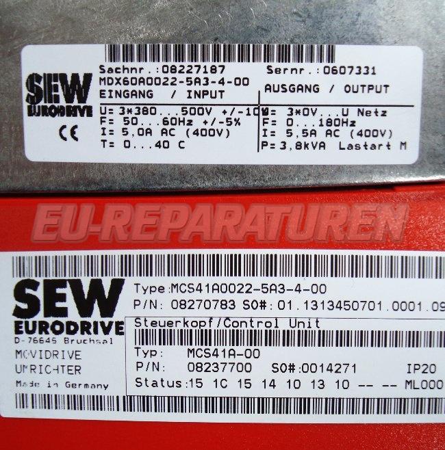 SHOP, Kaufen: SEW EURODRIVE MCS41A0022-5A3-4- FREQUENZUMFORMER