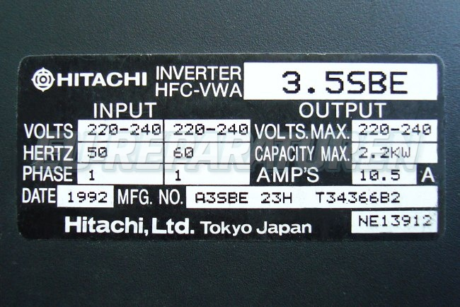 SHOP, Kaufen: HITACHI HFC-VWA3.5SBE FREQUENZUMFORMER