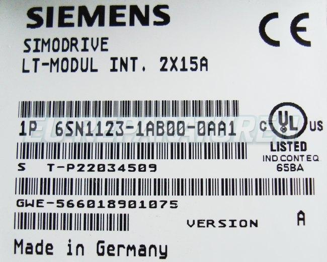 SHOP, Kaufen: SIEMENS 6SN1123-1AB00-0AA FREQUENZUMFORMER