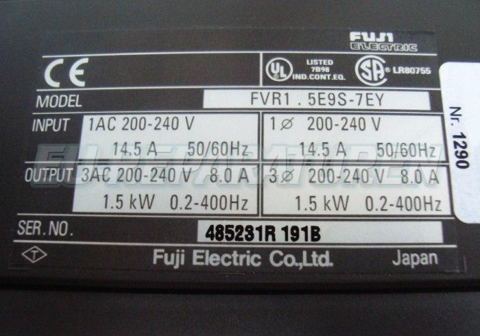 VORSCHAU: FUJI ELECTRIC FVR1.5E9S-7EY FREQUENZUMFORMER