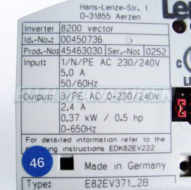 SHOP, Kaufen: LENZE E82EV371_2B FREQUENZUMFORMER