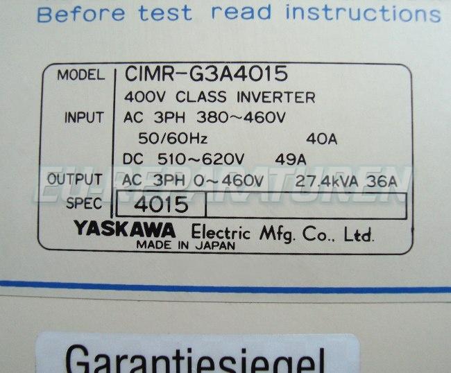 SHOP, Kaufen: YASKAWA CIMR-G3A4015 FREQUENZUMFORMER