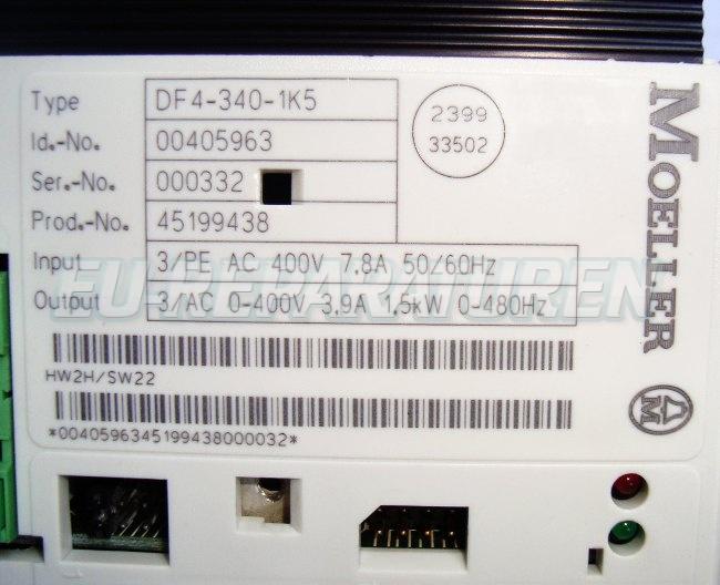 SHOP, Kaufen: MOELLER DF4-340-1K5 FREQUENZUMFORMER