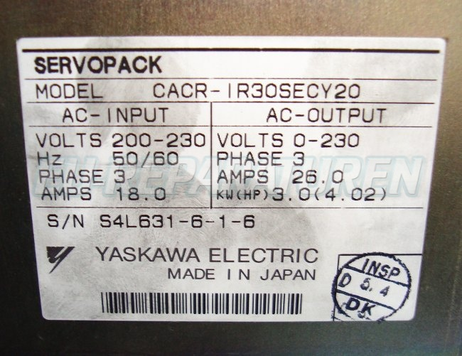 SHOP, Kaufen: YASKAWA CACR-IR30SECY20 FREQUENZUMFORMER