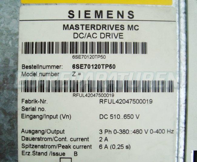 SHOP, Kaufen: SIEMENS 6SE7012-0TP50 FREQUENZUMFORMER
