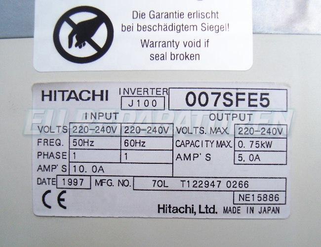 SHOP, Kaufen: HITACHI J100-007SFE5 FREQUENZUMFORMER
