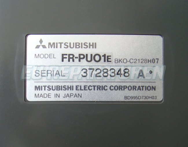 SHOP, Kaufen: MITSUBISHI ELECTRIC FR-PU01E BEDIENPANEL