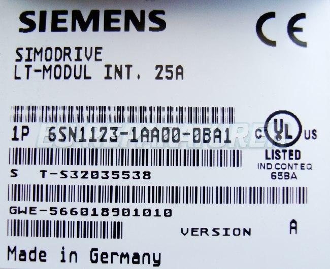 SHOP, Kaufen: SIEMENS 6SN1123-1AA00-0BA FREQUENZUMFORMER