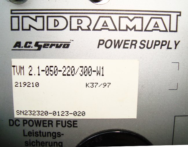 VORSCHAU: INDRAMAT TVM2.1-050-220/300-W1 POWER SUPPLY