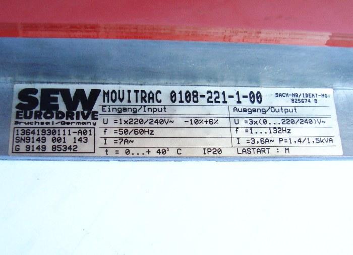SHOP, Kaufen: SEW EURODRIVE 0108-221-1-00 FREQUENZUMFORMER