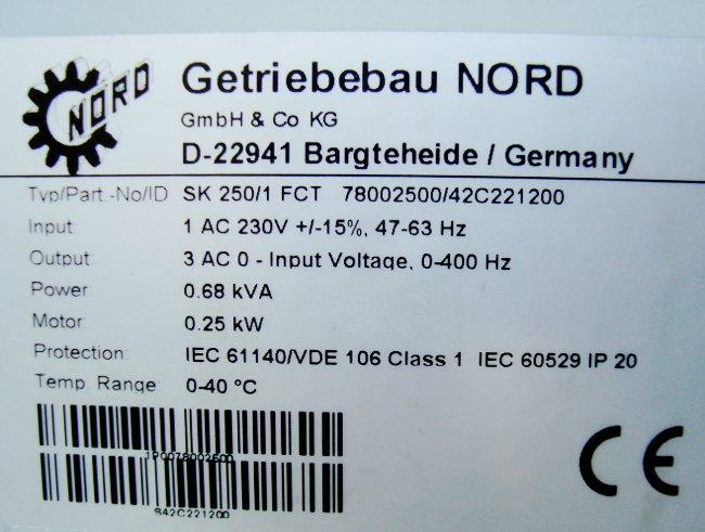 SHOP, Kaufen: GETRIEBEBAU NORD SK250/1FCT FREQUENZUMFORMER