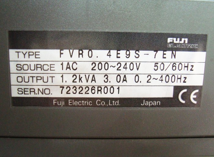 SHOP, Kaufen: FUJI ELECTRIC FVR0.4E9S-7EN FREQUENZUMFORMER