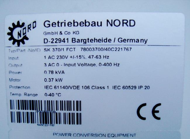 SHOP, Kaufen: GETRIEBEBAU NORD SK370/1FCT FREQUENZUMFORMER