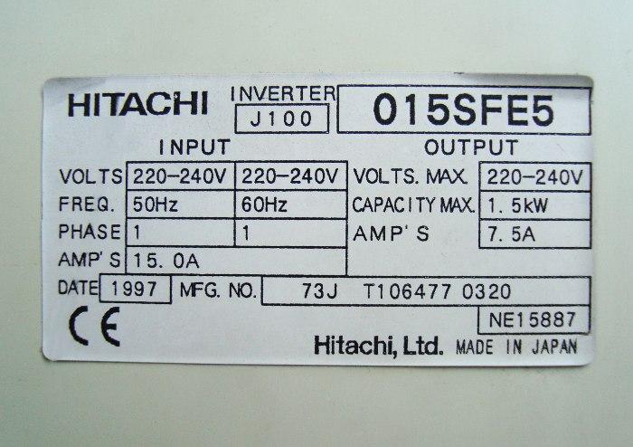 Weiter zum Artikel: HITACHI J100-015SFE5 FREQUENZUMFORMER