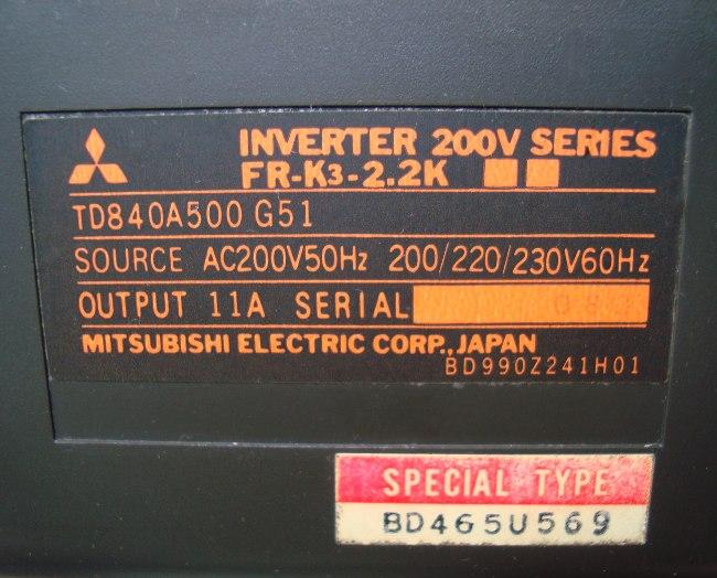 SHOP, Kaufen: MITSUBISHI ELECTRIC FR-K3-2.2K FREQUENZUMFORMER